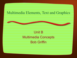 Multimedia Elements, Text and Graphics