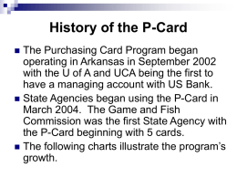 History of the P-Card