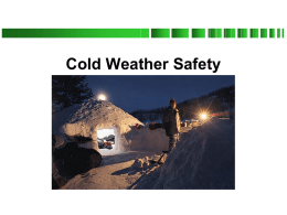 Cold Weather Safety - U.S. Scouting Service Project