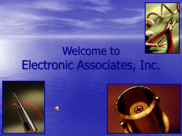 Welcome to Electronic Associates, Inc.