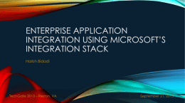 Enterprise Application Integration using Microsoft's