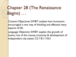 Chapter 28 (The Renaissance Begins)