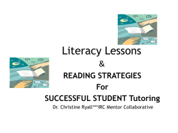 Literacy Lessons - Indian River Mentoring Collaborative