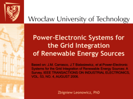 Power-Electronic Systems for the Grid Integration of