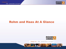 Rohm and Haas Bristol Polymers SAChE 092005