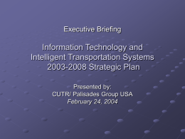Executive Briefing Information Technology and Intelligent