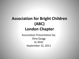 Association for Bright Children (ABC)