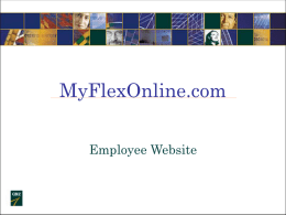 Flex Benefits Web Site