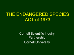 ENVIRONMENTAL LAW: PROTECTING BIODIVERSITY