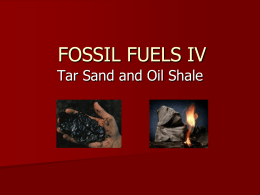 FOSSIL FUELS I - Illinois State University