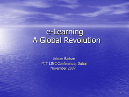e - Learning A Global Revolution