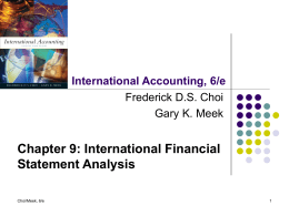 International Accounting , 6/e