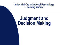 Industrial-Organizational Psychology Learning Module