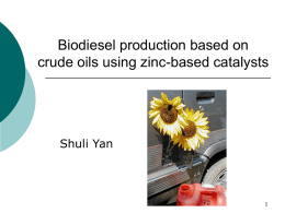 Using zinc oxide catalysts in biodiesel production basing