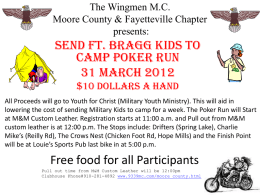The Moore County Chapter of the Wingmen M.C. presents: