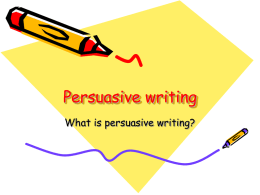 Persuasive writing - LaVergne Middle School