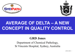 AVERAGE OF DELTA – A NEW CONCEPT IN QUALITY CONTROL