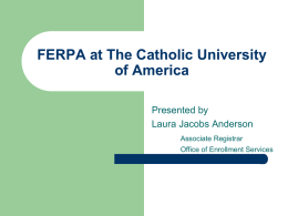 FERPA for Cardinal Station Users