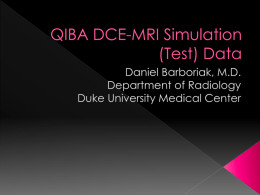 QIBA DCE-MRI Simulation (Test) Data