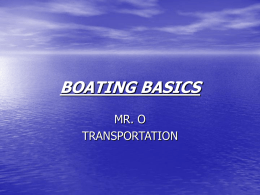 BOATING BASICS