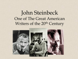 Introducing John Steinbeck