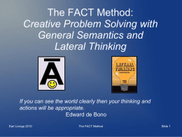 The FACT Method: Creative Problem Solving with General