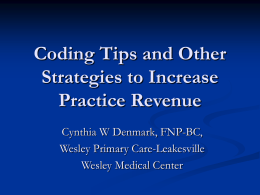 Coding Tips and Other Strategies to Increase Practice Revenue