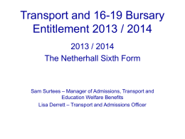 Post 16 2013-14 - Netherhall Sixth Form