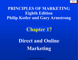 Chapter 17: Direct and Online Marketing