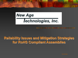 RoHS -Potential Reliability Issues