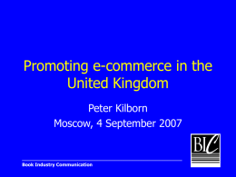Promoting e-commerce in the United Kingdom