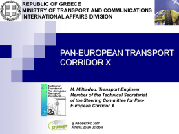 Implementation of the Pan-European Corridors Concept: The