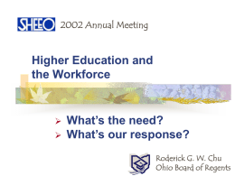 Higher Education and the Workforce