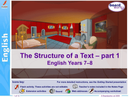 The Structure of a Text part 1