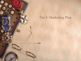 Chapter 8: The E-Marketing Plan