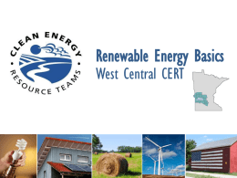 West Central Clean Energy Resource Team