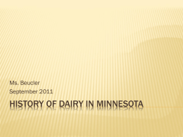 History of Dairy in Minnesota