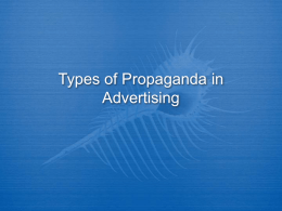 Types of Propaganda in Advertising