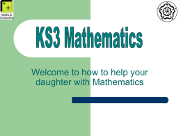 KS3 Mathematics - Queen Elizabeth's Girls' School