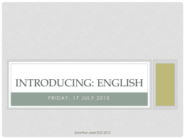 Introducing: English - English teaching resources