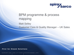 BPM Programme and process mapping