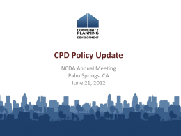 NCDA Annual Meeting - National Community Development