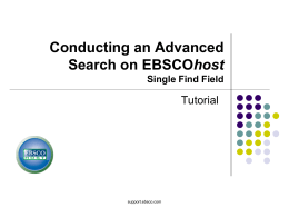 EBSCOhost Advanced Search - EBSCO Information Services