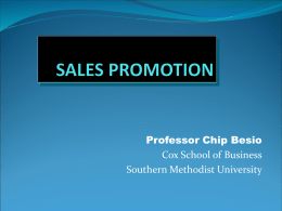 Sales Promotion - Southern Methodist University