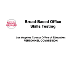 COMPETENCY MODELING - Personnel Testing Council of