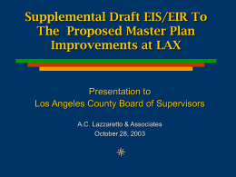 LAX Master Plan EIS/EIR Review