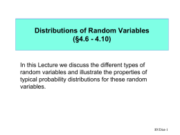 Probability and Statistical Distributions