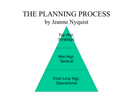 THE PLANNING PROCESS - American Public Works