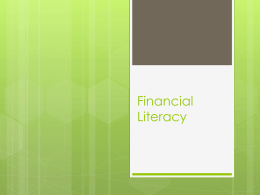 Financial Literacy - West Valley College