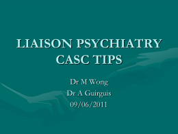 CASC Tips - The Cambridge MRCPsych Course